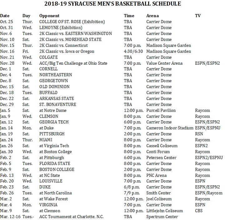 Playful image with regard to su basketball schedule printable