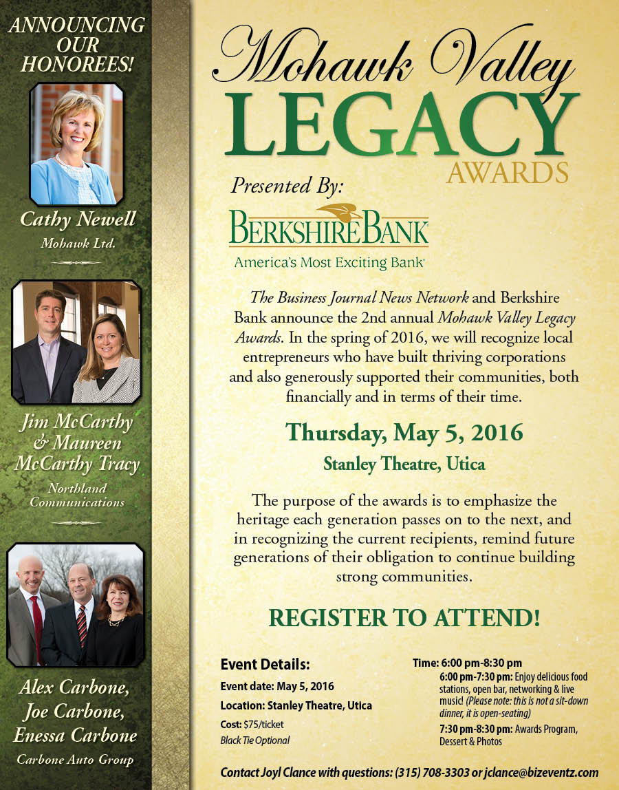 Mohawk Valley Legacy Awards 2016